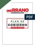 Plan de Gobierno 2016-2021 Enrique Serrano