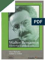 Walter Benjamin Filosofia y Pedagogia