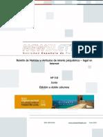 Newsletter Sociedad Española de Psiquiatría Legal, número 113. Junio 2016