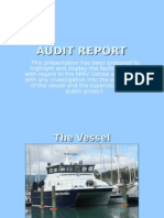 AUDIT Report with regard to the MMV Ostrea