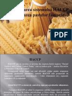 Imbrea Erika - HACCP Paste Fainoase
