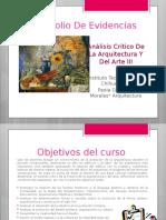Portafolio Análisis Critico de la Arquitectura y el arte