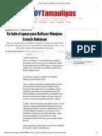 05-27-2016 Va Todo El Apoyo Para Baltazar Hinojosa_ Ernesto Robinson