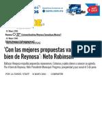 05-31-2016 'Con Las Mejores Propuestas Vamos Por El Bien de Reynosa'_ Neto Robinson