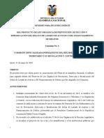 INFORME PARA SEGUNDO DEBATE DEL PROYECTO DE LEY ORGÁNICA DE PREVENCIÓN, DETECCIÓN Y ERRADICACIÓN DEL DELITO DE LAVADO DE ACTIVOS Y DEL FINANCIAMIENTO DE DELITOS