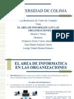 El Area de Informatica en Las Organizaciones