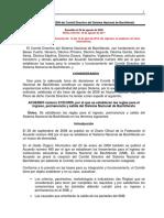 ACUERDO Numero 2 CD2009 Comite Directivo SNB