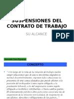Suspensiones Contrato de Trabajo 2016