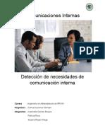 Trabajo de Comunicaciones Internas Necesidades de Comunicacion Interna