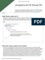 Dentro de Un Programa de C# (Visual C#)