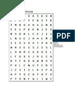 Preservacion y Procesamiento Sopa de Letras