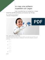 Colombiano Crea Una Prótesis Infantil Compatible Con Legos