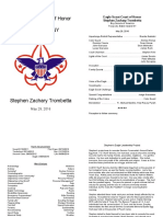 SZT Eagle Court of Honor Program