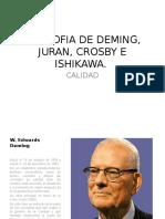 Filosofia de Deming, Juran, Crosby Expocicion