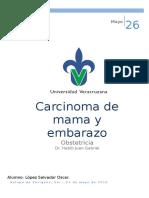 Cáncer de Mama Durante El Embarazo
