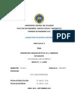 Parametros Organolepticos, Ph y Turbiedad