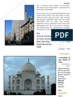 Examples of simile, metaphor, symbolism, form and proportion in architecture