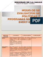 Modelos de Evaluacion de Politicas y Programas Sociales