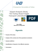 "Impact Analysis Study ""EU-Turkey Road Freight Transport Liberalisation"""