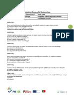 Exercício Avaliação Diagnóstico - Ufcd 0580
