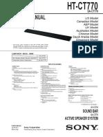Htct770 Service Manual
