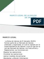 Exposicion Bolsa de Valores Marco Legal