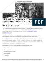 Demons in the Bible - Different Types and How They Attack