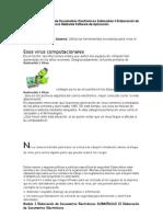 Modulo I Elaboración de Documentos Electrónicos Submodulo II Elaboración de Documentos Electrónicos Mediante Software de Aplicación