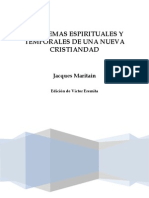 Problemas espirituales y temporales de una nueva cristiandad_Jacques Maritain