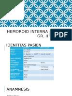Hemoroid Interna Gr RAGA