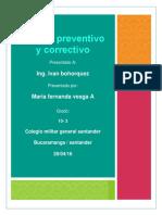manual preventivo y correctivo