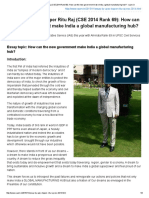 Essay by UPSC Topper Ritu Raj (CSE 2014 Rank 69)_ How Can the New Government Make India a Global Manufacturing Hub_ - Xaam