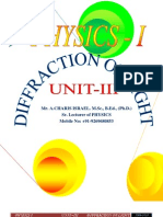 Unit - III Diffraction of Light