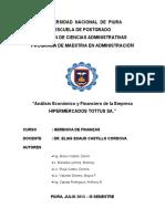 Análisis Financiero y Económico de h Tottus - Final
