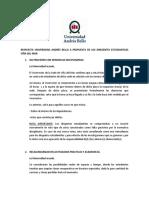 RESPUESTA UNIVERSIDAD ANDRÉS BELLO A PROPUESTA DE LOS DIRIGENTES ESTUDIANTILES VIÑA DEL MAR