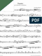 Rossini - Duetto Per Violoncello e Contrabbasso (Contrabbasso)