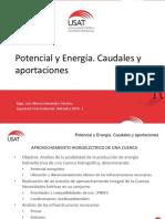 H. Potencial y Energía. Caudales y Aportaciones