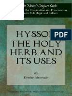 Hyssop, The Holy Herb and Its Uses