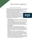 Derecho Penal Función y Legitimación