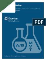 Multivariate Testing 2013 Wp