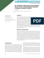 Determination of Antibiotic Resistance