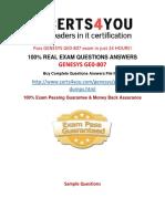 GE0-807 Practice Questions