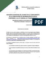 Secretarías, estados y municipios con cero avance en su obligación de transparentar información