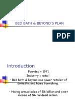 BED BATH & BEYOND'S PLAN