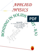 APPLIED PHYSICS Bonding in Solids by CHARIS ISRAEL ANCHA