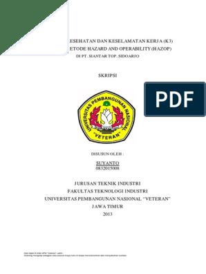 Skripsi Teknik Industri Tentang K3 Pdf Pejuang Skripsi