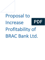 Proposal to Increase Profitability of BRAC Bank Ltd