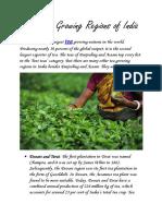 The Tea Growing Regions of India