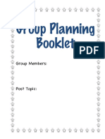 group post planning booklet