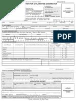 Civil Service Commission Form